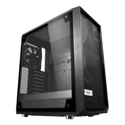 Meshify C Tempered Glass, No PSU, ATX, Black, Mid Tower Case
