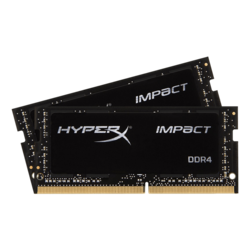 32GB Kit (2 x 16GB) HyperX Impact DDR4 3200MHz, CL20, Black, SO-DIMM Memory