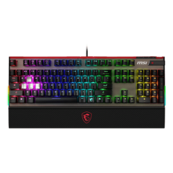 Vigor GK80 Red, Cherry MX RGB Red Switch, Wired USB, Black, Mechanical Gaming Keyboard