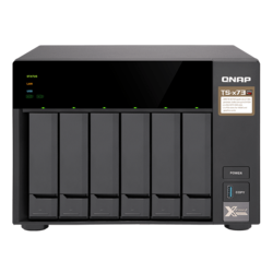 TS-673 6-bay NAS Server, AMD R-Series RX-421ND 2.1GHz, 64GB DDR4 RAM (4GB pre-installed), SATA 6Gb/s, M.2 / 2, GbLAN / 4, USB 3.0 / 4, 250W PSU