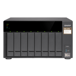 TS-873 8-bay NAS Server, AMD R-Series RX-421ND 2.1GHz, 64GB DDR4 RAM (8GB pre-installed), SATA 6Gb/s, M.2 / 2, GbLAN / 4, USB 3.0 / 4, 250W PSU