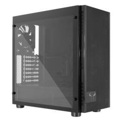 CR500 Tmpered Glass, No PSU, ATX, Black, Mid Tower Case