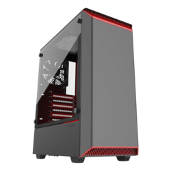 Eclipse Series P300 Tempered Glass, No PSU, E-ATX, Black/Red, Mid Tower Case