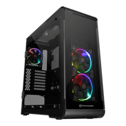 View Series 32 Tempered Glass RGB Edition, No PSU, ATX, Black, Mid Tower Case