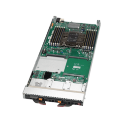 SBI-6419P-C3N, Single-Socket Blade, Intel C622, 2x NVMe +1x SATA/SAS, 4x M.2, 12x DDR4, Dual 10Gb Ethernet