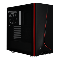 Carbide Series SPEC-06 Tempered Glass, No PSU, ATX, Black, Mid Tower Case