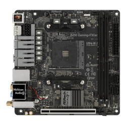 Fatal1ty B450 Gaming-ITX/ac, AMD B450 Chipset, AM4, HDMI, Mini-ITX Motherboard