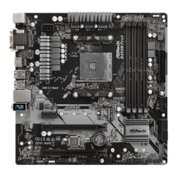 B450M Pro4, AMD B450 Chipset, AM4, HDMI, microATX Motherboard