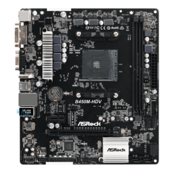 B450M-HDV, AMD B450 Chipset, AM4, HDMI, microATX Motherboard