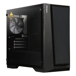 Performance Series P6 Tempered Glass, No PSU, microATX, Black, Mini Tower Case