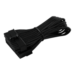 "24-Pin ITX 7"" (20cm) HSL Single Braid Extension Cable - Jet Black"