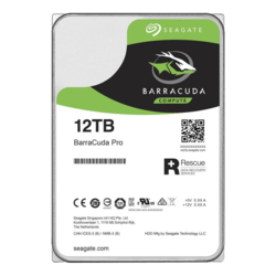 12TB BarraCuda Pro ST12000DM001, 7200 RPM, SATA 6Gb/s, 512e, 256MB cache, 3.5-Inch HDD