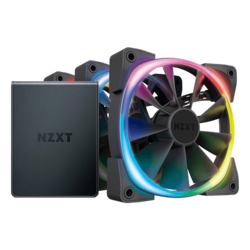 Aer RGB 2, 3 x 120mm, w/ Controller, 1500 RPM, 52.44 CFM, 33 dBA, Cooling Fans