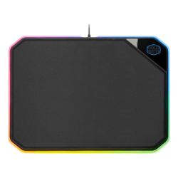 MP860, Cloth / Plastic / Anodized Aluminum / Rubber, Black, Dual-sided Gaming Mouse Mat