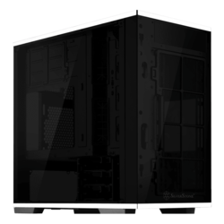 Lucid Series SST-LD01 Tempered Glass, No PSU, microATX, Black/White, Mini Tower Case