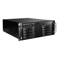 "D410-DE8BK-225T, Black HDD Handle, 1x Slim 5.25"", 8x 3.5"", 2x 2.5"" Hotswap, E-ATX, Black, 4U Chassis"