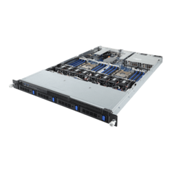 "R181-340, 1U, Intel® C621, 4x 3.5""/2.5"" SATA Hotswap, 3x 2.5"" Internal SATA, 24x DDR4, Dual 1Gb Ethernet, 2x 1200W Rdt PSU"
