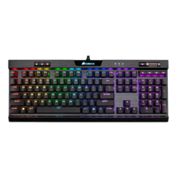 K70 RGB MK.2, RGB LED, Cherry MX Low Profile Red, Wired USB, Black, Mechanical Gaming Keyboard