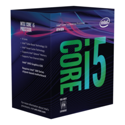 Core™ i5-9400 6-Core 2.9 - 4.1GHz Turbo, LGA 1151, 65W TDP, Retail Processor