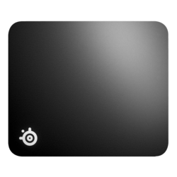 QcK Hard, Hard Polyethylene, Non-slip rubber base, Black, Gaming Mouse Mat