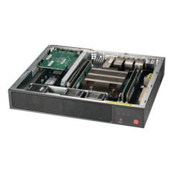 SuperServer E300-9D-4CN8TP, Compact, Intel® Xeon® processor D-2123IT, 2x U.2, M.2, 4x DDR4, 150W DC PSU w/ PFC