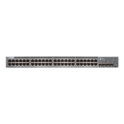 EX3400, 48 x RG45 PoE+, 4 SFP+ and 2 QSFP+ Uplink Ports, 1G/10G, Managed Ethernet Switch