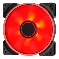 Prisma SL-12 120mm, Red LEDs, 1200 RPM, 50.63 CFM, 19.5 dBA, Cooling Fan