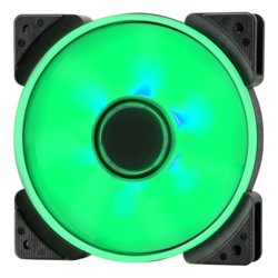 Prisma SL-12 120mm, Green LEDs, 1200 RPM, 50.63 CFM, 19.5 dBA, Cooling Fan