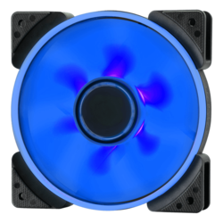Prisma SL-14 140mm, Blue LEDs, 1000 RPM, 63.33 CFM, 19.4 dBA, Cooling Fan