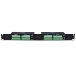 Digital Input/Output Expander, Normally-Open Relay Contact Outputs, 1RU Dual Side-by-Side Rackmount