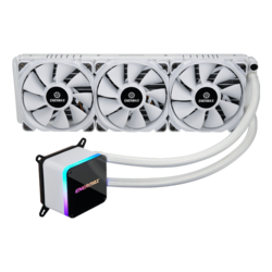 Liqtech II 360 White, 360mm Radiator, 500W+ TDP, Liquid Cooling System
