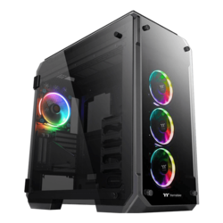 View 71 Tempered Glass RGB Plus Edition, No PSU, E-ATX, Black, Full Tower Case