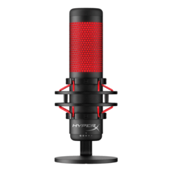 HyperX QuadCast, Anti-Vibration Shock Mount, USB, Black/Red, Gaming Microphone