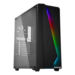 MAKASHI MK50 Tempered Glass, No PSU, E-ATX, Black, Mid Tower Case