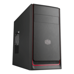 MasterBox E300L, No PSU, microATX, Black/Red, Mini Tower Case