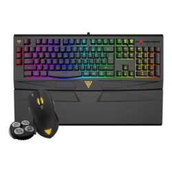 ARES 7 Color Combo, 4000 dpi, Wired USB, Black, Gaming Keyboard & Mouse