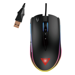 ZEUS M1, RGB LED, 7000dpi, Wired USB, Black, Optical Gaming Mouse