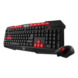 ARES V2 Essential Combo, 3200 dpi, Wired USB, Black/Red, Gaming Keyboard & Mouse