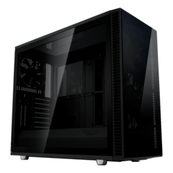 Define S2 Vision - Blackout Tempered Glass, No PSU, E-ATX, Mid Tower Case