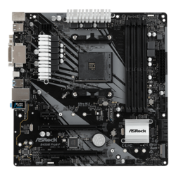 B450M Pro4-F, AMD B450 Chipset, AM4, HDMI, microATX Motherboard