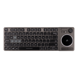 K83 RGB, White LED, Wireless Bluetooth/USB, Dark Gray, Entertainment Keyboard & TouchPad