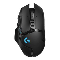 G502 Lightspeed, RGB LED, 16000dpi, Wireless USB, Black, Optical Gaming Mouse