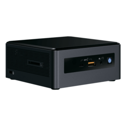 "NUC 8 Mainstream-G NUC8i5INHJA, Intel® Core™ i5-8265U, 8GB LPDDR3-1866 (Soldered), M.2 (16GB Intel® Optane™ Memory pre-installed), 2.5"" HDD/SSD (1TB HDD pre-installed), AMD Radeon™ 540X 2GB Graphics, Windows 10 Home, Mini PC"