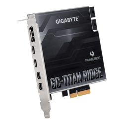 GC-TITAN RIDGE, 40 Gb/s, 2x  Thunderbolt™ 3 / DP / 2x Mini DP, PCIe x4 Expansion Add-in Card