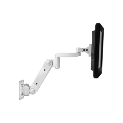 Wall Mount LCD Arm with Heavy Load Extension, White