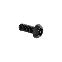 "Tamper-Resistant Button Head Hex Drive Screws, Alloy Steel, 6-32 Thread, 3/8"" Long, (Pack of 50)"