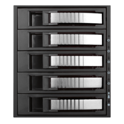 "BPU-350HD-SILVER 3x 5.25"" to 5x 3.5"" 2.5"" 12Gb/s HDD SSD Hot-swap Rack"