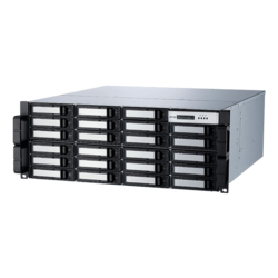 ARC-8050T3-24R-240EXOS, 4U/24bay 240TB Seagate EXOS 7200RPM SATA Drives, Thunderbolt™ 3 to 6Gb/s SATA Rackmount Hardware RAID, Triple 400W PSU