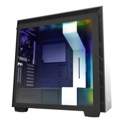 H Series H710i Tempered Glass, No PSU, E-ATX, Matte White, Mid Tower Case