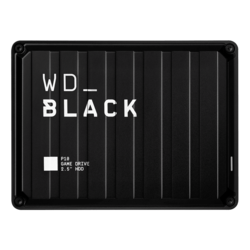4TB WD_BLACK™ P10 Game Drive, USB 3.2 Gen 1, Portable, Black, External Hard Drive